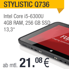Notebook Tablet Fujitsu Stylistic Q736 leasen